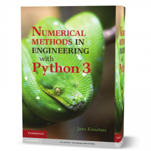 download free Numerical Methods in Engineering with Python 3 - Kiusalaas 3rd edition published in 2013 book as pdf