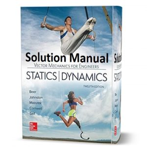Download Solution Manual Vector Mechanics for Engineers Statics and Dynamics 12th Edition pdf