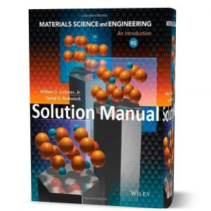 William D. Callister materials science and engineering an introduction 9th edition solutions manual pdf | solution